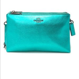 Coach Metallic Sea Green Lyla Leather Crossbody